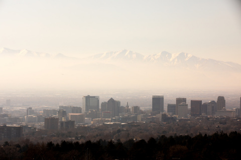 Salt Lake City In Smog